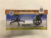"""3""""ROLLERBLADE WHEELS FOR OFFICE CHAIR"""