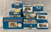 10Pc Vintage Marklin HO Diesel Freight Set