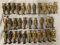 32 Grey Iron Dime-Store Soldiers