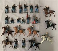 Britains Civil War Soldier Lot.