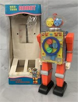 Plastic Battery-Operated See-Thru Robot.