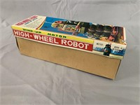 Tin Litho High Wheel Robot Boxed.
