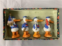 Donald Duck Bisque Comic Character Figure Set