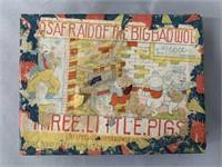 3 Little Pigs Bisque Comic Character Figure Set