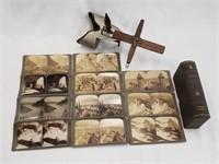 Sun Sculpture Stereoscope Viewer Stereoview Cards