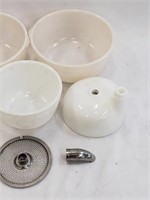 Vintage GE Mixer And Mixing Bowls Accessories