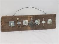 Handmade Folk Art Wall Décor / Coat Hanger