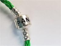 Green Clover And Lady Bug Charm Pandora Bracelet