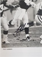Troy Aikman Signed Photo And Letter To Fan