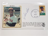 1983 Jim Rice Signed First Day Issue Envelope