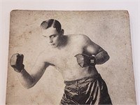 1923 Floyd Johnson Boxing Exhibit Post Card