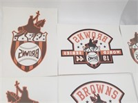 Reproduction 1944 World Series Browns Decals