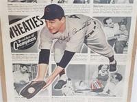 Vintage Phil Cavaretta Wheaties Advertisment