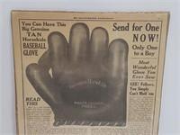 1924 Horsehide Baseball Glove Advertisment