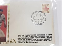 1983 Walter Johnson First Day Issue Envelope