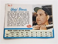 1962 Yogi Berra Post Card #7