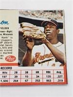 1962 Hank Aaron Post Card #149