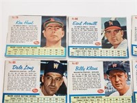 (9) 1962 Post Baseball Cards