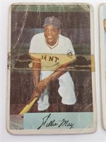 1954 Bowman Willie Mays #89 Pee Wee Reese #58