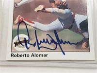 1990 Roberto Alomar Signed Upper Deck Card #346