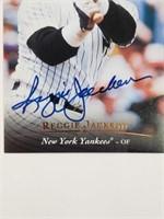 1995 Reggie Jackson Signed Upper Deck Card #ACI