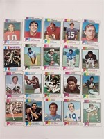 (20) 1973 Topps Football Cards