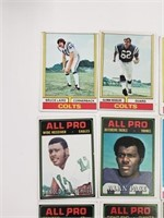 (20) 1974 Topps Football Cards