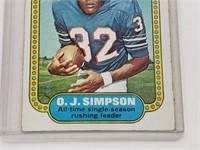 1974 O.J. Simpson Topps #1
