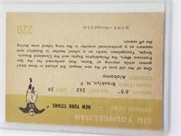 1961 Sid Youngelman Fleer #220