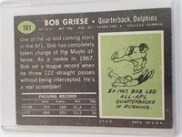 1969 Bob Griese Topps #161