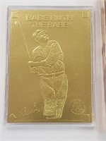 1997 Babe Ruth Minted Collectors Card
