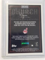 2013 Ryan Church Signed Topps Card #TPA-RYC
