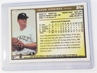 1999 Jason Jennings Signed Topps Card #T70
