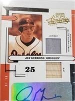 2004 Jay Gibbons Signed/Relic Play Off #AI-66