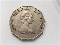(4) Misc. Cards W/ 1989 Elizabeth II Dollar Coin