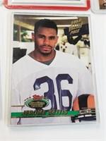 9 Misc. Football Cards Joe Montana Marshall Faulk