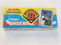 1990 Bowman Baseball Cards Complete Set Sealed