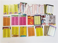 Large Lot Misc. Baseball & Hockey Checklist Cards