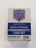 Super Bowl XXV Silver Ann. Limited Ed Card Set