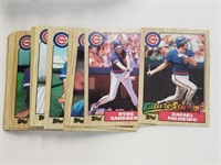 1987 Topps Baseball Cards Cubs Team Set