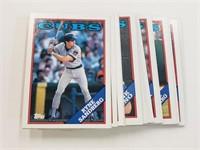 1988 Topps Baseball Cards Cubs Team Set