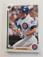 1991 Upper Deck Baseball Cards Cubs Team Set