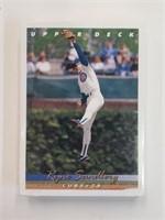 1993 Upper Deck Baseball Cards Cubs Team Set