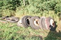 19pc Semi Tires on Rims