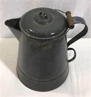 "Large Granite Coffee Pot -12"""