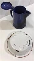 Granite Ware Coffee Pot & Bowl