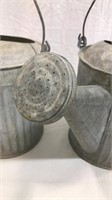 (2) Galvanized Watering Cans