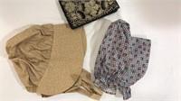2 Ladies' Bonnets & Purse