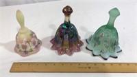 3 Fenton Glass Bells