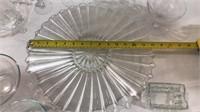 Clear Platter, Stemware, Pyrex